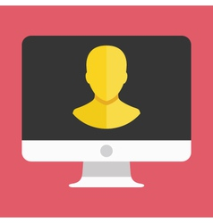 Computer Display User Icon vector image vector image