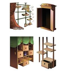 Evolution of furniture vector image vector image