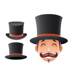 gentleman victorian business cartoon bowler hat vector image vector image