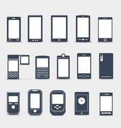 Modern mobile gadgets silhouettes vector image vector image