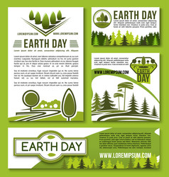 posters and banners earth day templates set vector image