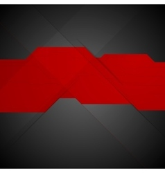 Red black contrast tech minimal design vector image