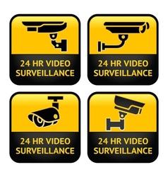 Security camera cctv signs vector