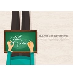Back to school flat background online education vector