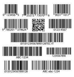 Barcodes set vector image