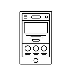 mobile website wireframe lined icon touch device vector image vector image