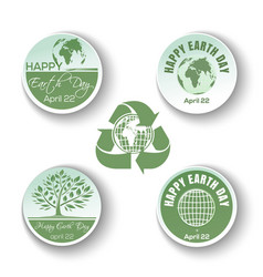 round banners collection for earth day vector image vector image