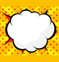 abstract blank comic book pop art background vector image
