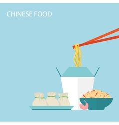 Chinese food background vector