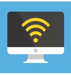 Computer Display Wifi Icon vector image vector image