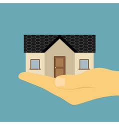 hand holding house vector image