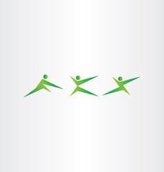 martial arts people karate sport icon set vector image