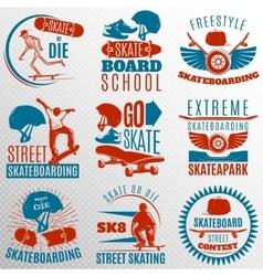 Skateboarding Emblem Set In Color vector image