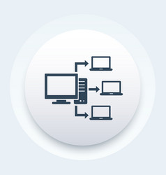 computer network database server icon vector image vector image