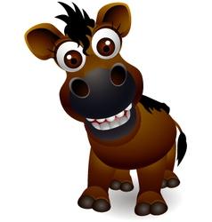 cute horse cartoon vector image vector image