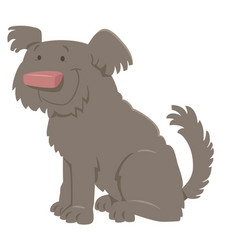Cute shaggy cartoon dog vector