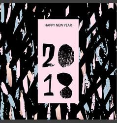 Happy new year confetti 2018 vector