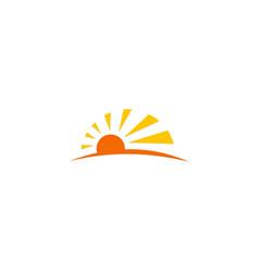 sun light sunny logo vector image