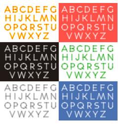 Transparent letters alphabet vector