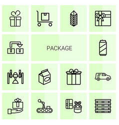 14 package icons vector
