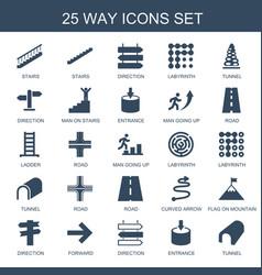 25 way icons vector image
