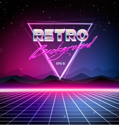 80s Retro Sci-Fi Background vector