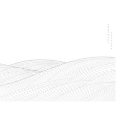 Abstract landscape background with white and grey vector