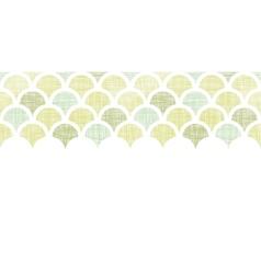 Abstract textile green fishscale horizontal vector image