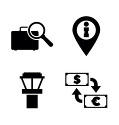 airport services simple related icons vector image