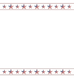 american patriotic frame with empty space vector image