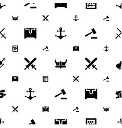 Antique icons pattern seamless white background vector