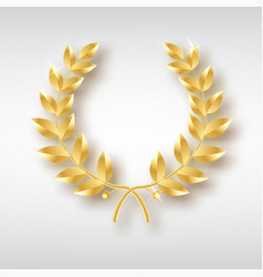 award laurel symbol of victory and achievement vector image