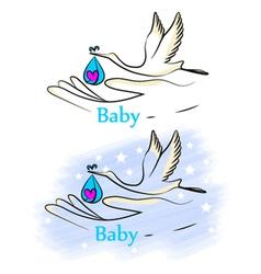 Baby stork vector