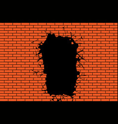 Background from a brick wall vector