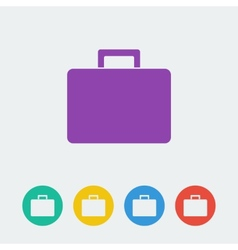 bag flat circle icon vector image