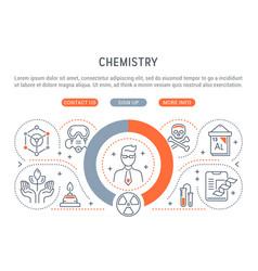 banner chemistry vector image