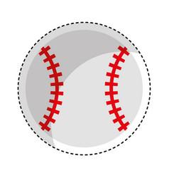 Baseball ball isolated icon vector