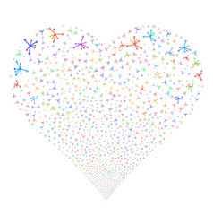 big bang fireworks heart vector image