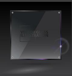 Black square glass - - transparent vector