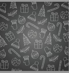 blackboard christmas background vector image