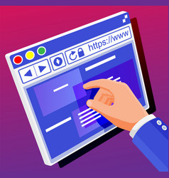 Browser window operating system user interface vector