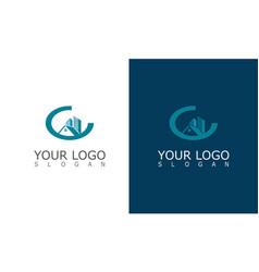 buiding cityscape logo vector image