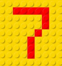 Building kit of plastic Font 33 vector