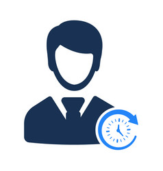 Business punctuality icon vector