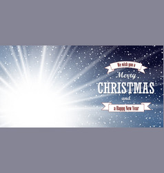 christmas blue background merry christmas happy vector image
