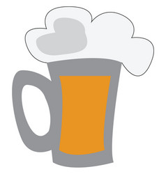 clipart a beer mug depicting happy summer time vector image