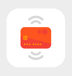 contactless credit card icon flat style vector image