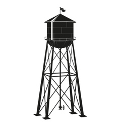 Contour of the old water tower vector