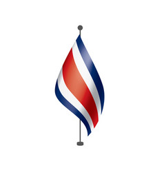Costa rica flag on a white vector