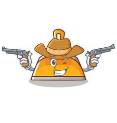 cowboy dustpan character cartoon style vector image